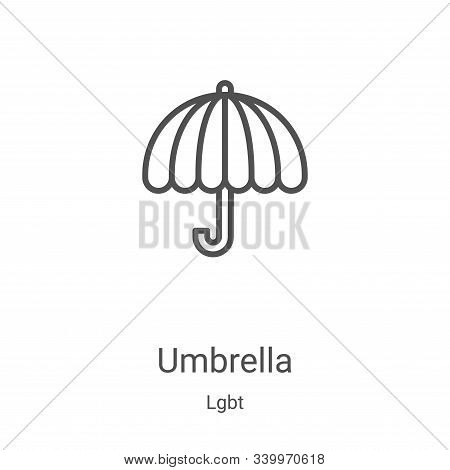 umbrella icon isolated on white background from lgbt collection. umbrella icon trendy and modern umb