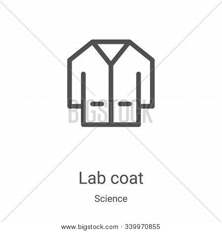 lab coat icon isolated on white background from science collection. lab coat icon trendy and modern