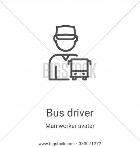 bus driver icon isolated on white background from man worker avatar collection. bus driver icon tren