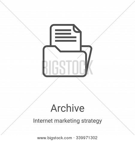 archive icon isolated on white background from internet marketing strategy collection. archive icon