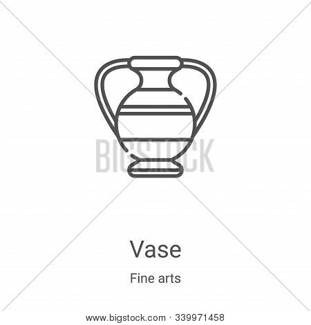 vase icon isolated on white background from fine arts collection. vase icon trendy and modern vase s