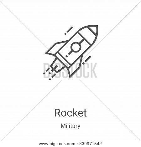 rocket icon isolated on white background from military collection. rocket icon trendy and modern roc