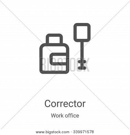 corrector icon isolated on white background from work office collection. corrector icon trendy and m