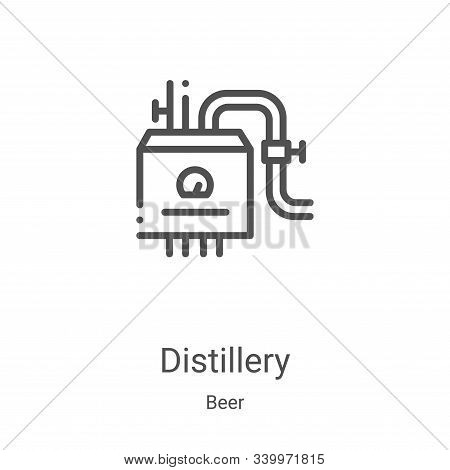 distillery icon isolated on white background from beer collection. distillery icon trendy and modern