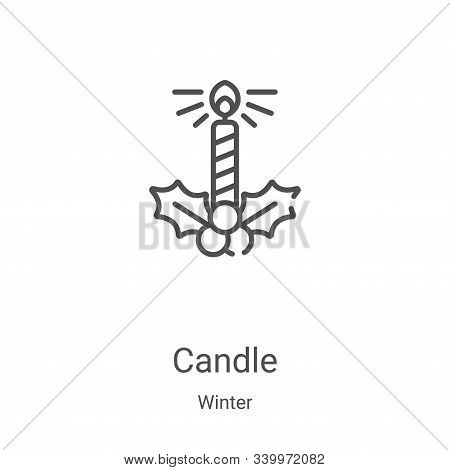 candle icon isolated on white background from winter collection. candle icon trendy and modern candl