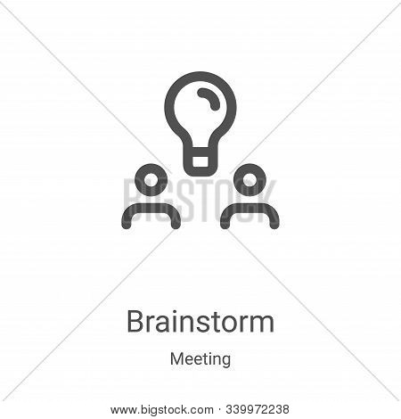brainstorm icon isolated on white background from meeting collection. brainstorm icon trendy and mod