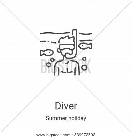 diver icon isolated on white background from summer holiday collection. diver icon trendy and modern