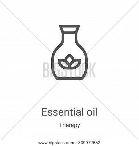essential oil icon isolated on white background from therapy collection. essential oil icon trendy a
