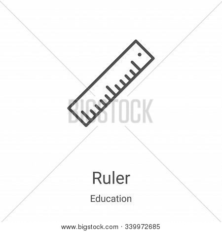 ruler icon isolated on white background from education collection. ruler icon trendy and modern rule