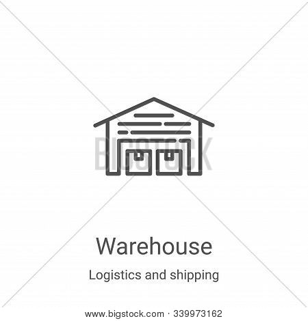 warehouse icon isolated on white background from logistics and shipping collection. warehouse icon t