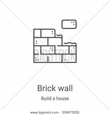 brick wall icon isolated on white background from build a house collection. brick wall icon trendy a