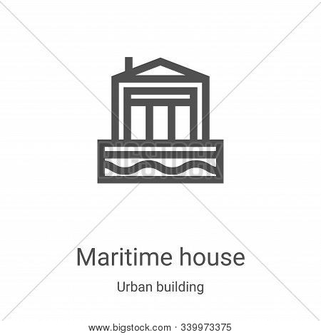 maritime house icon isolated on white background from urban building collection. maritime house icon