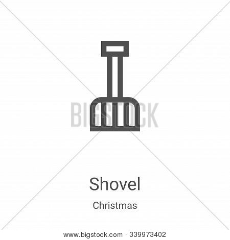 shovel icon isolated on white background from christmas collection. shovel icon trendy and modern sh