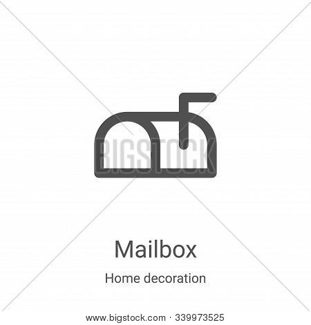 mailbox icon isolated on white background from home decoration collection. mailbox icon trendy and m