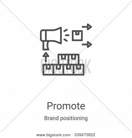 promote icon isolated on white background from brand positioning collection. promote icon trendy and