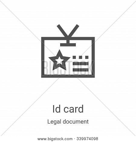id card icon isolated on white background from legal document collection. id card icon trendy and mo