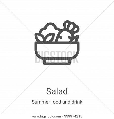 salad icon isolated on white background from summer food and drink collection. salad icon trendy and