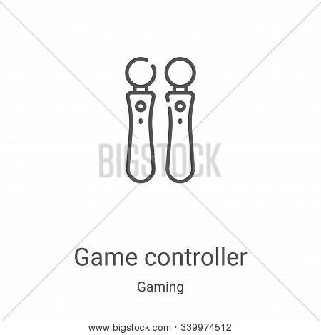 game controller icon isolated on white background from gaming collection. game controller icon trend