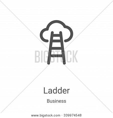 ladder icon isolated on white background from business collection. ladder icon trendy and modern lad