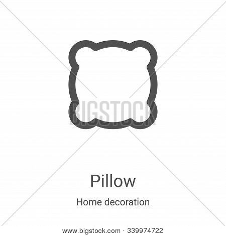 pillow icon isolated on white background from home decoration collection. pillow icon trendy and mod