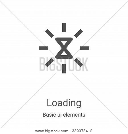 loading icon isolated on white background from basic ui elements collection. loading icon trendy and