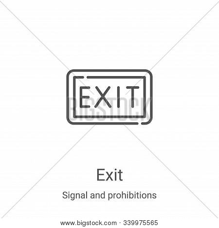 exit icon isolated on white background from signal and prohibitions collection. exit icon trendy and