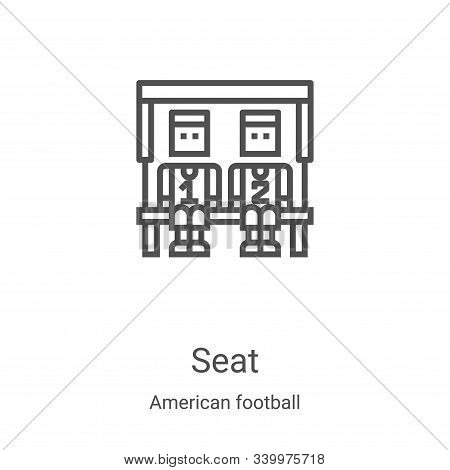 seat icon isolated on white background from american football collection. seat icon trendy and moder