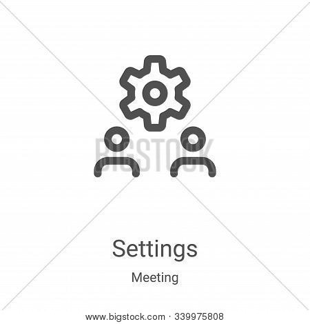 settings icon isolated on white background from meeting collection. settings icon trendy and modern