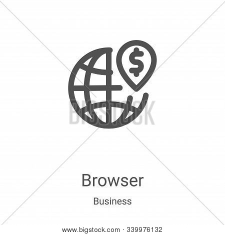 browser icon isolated on white background from business collection. browser icon trendy and modern b