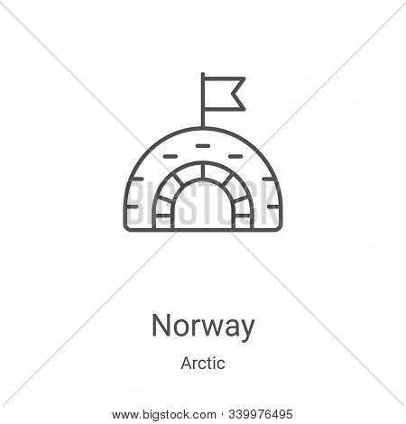 norway icon isolated on white background from arctic collection. norway icon trendy and modern norwa