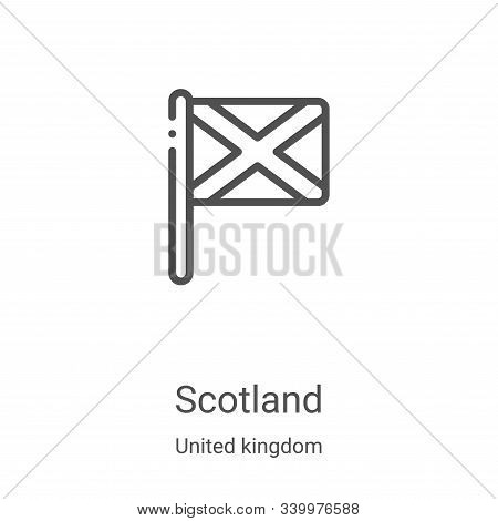 scotland icon isolated on white background from united kingdom collection. scotland icon trendy and