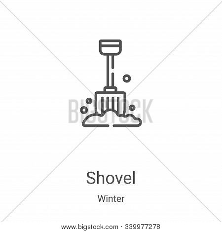 shovel icon isolated on white background from winter collection. shovel icon trendy and modern shove