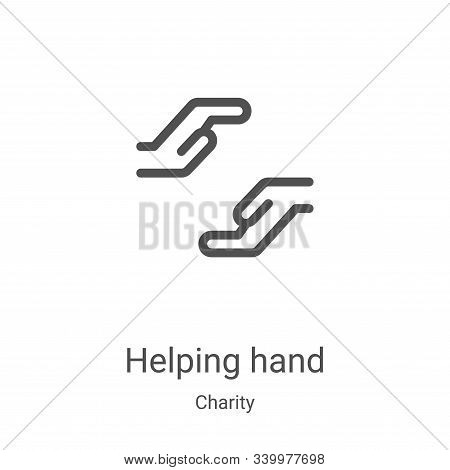 helping hand icon isolated on white background from charity collection. helping hand icon trendy and