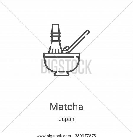 matcha icon isolated on white background from japan collection. matcha icon trendy and modern matcha
