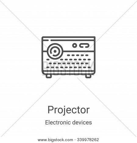projector icon isolated on white background from electronic devices collection. projector icon trend