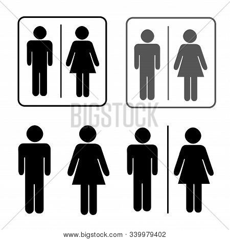 Toilets Icon Unisex. Vector Man  Woman Icons. Wc Sign Icon. Toilet Symbol