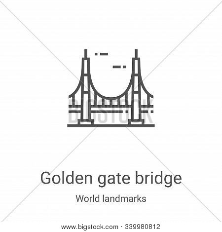 golden gate bridge icon isolated on white background from world landmarks collection. golden gate br