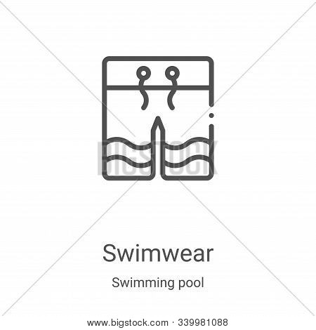 swimwear icon isolated on white background from swimming pool collection. swimwear icon trendy and m