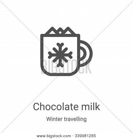 chocolate milk icon isolated on white background from winter travelling collection. chocolate milk i