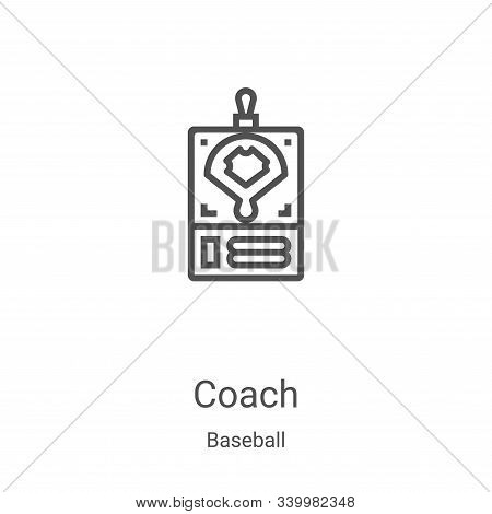 coach icon isolated on white background from baseball collection. coach icon trendy and modern coach