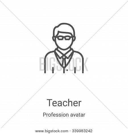 teacher icon isolated on white background from profession avatar collection. teacher icon trendy and