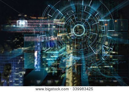 Artificial Intelligence And Machine Learning Concept. Neural Networks And Another Modern Technologie