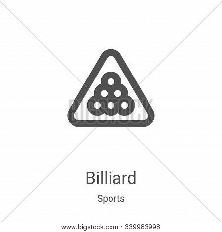 billiard icon isolated on white background from sports collection. billiard icon trendy and modern b