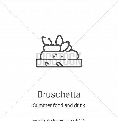 bruschetta icon isolated on white background from summer food and drink collection. bruschetta icon