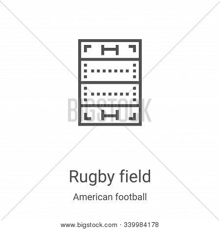 rugby field icon isolated on white background from american football collection. rugby field icon tr