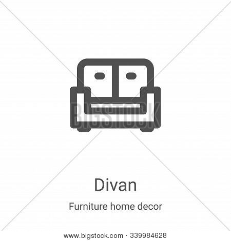 divan icon isolated on white background from furniture home decor collection. divan icon trendy and