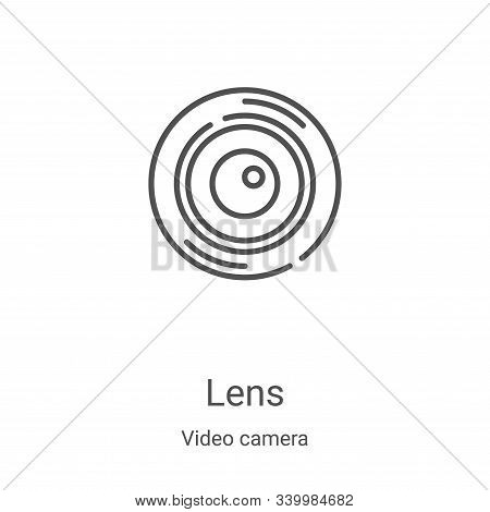 lens icon isolated on white background from video camera collection. lens icon trendy and modern len