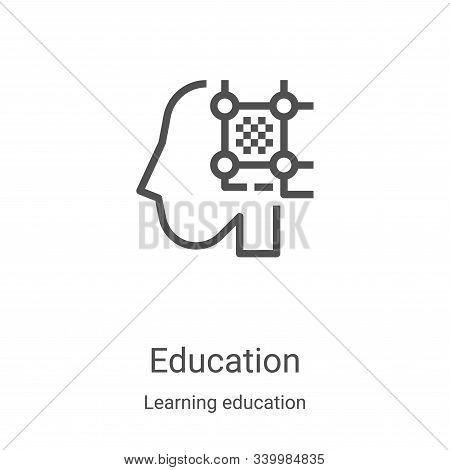 education icon isolated on white background from learning education collection. education icon trend