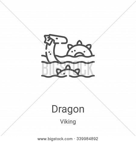 dragon icon isolated on white background from viking collection. dragon icon trendy and modern drago
