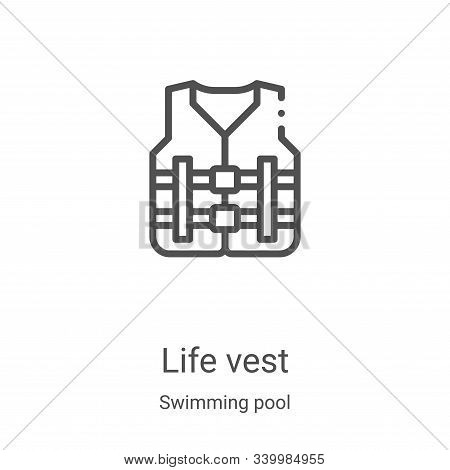 life vest icon isolated on white background from swimming pool collection. life vest icon trendy and